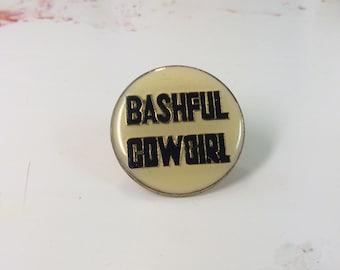 Bashful Cowgirl <--- Vintage pin!