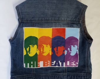 Girls/Kids Beatles rock vest size 6/7