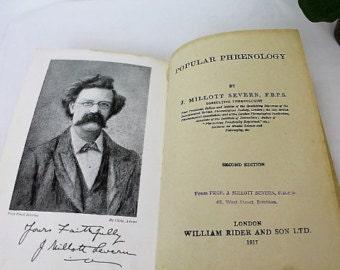 Popular Phrenology/ Second Edition/ J. Millott Severn/ SIGNED/Vintage Book/1917/ Reference Books/SALE  (0024C)