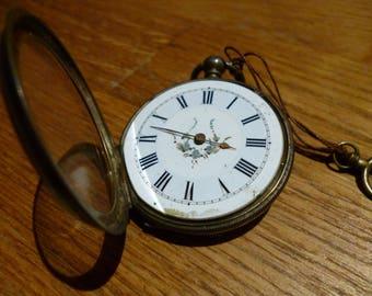 Ladies vintage silver pocket watch