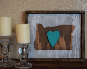 Reclaimed Wood Art- Recycled Wood- Oregon Sign- Shabby Chic- Rustic Farmhouse-