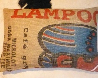 """Pillowcase original coffee bag cushion """"LAMPOC"""", 60 x 40 cm"""