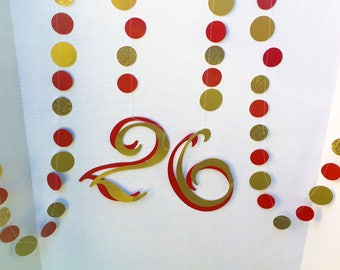 "Maroon and Gold ""26"" garland"