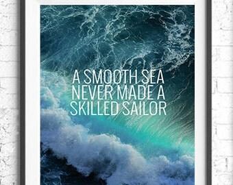 A Smooth Sea Printable