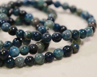 Genuine Apatite Bracelet Semi Precious Stone Gemstone Healing Crystal Chakra Metaphysical Gift