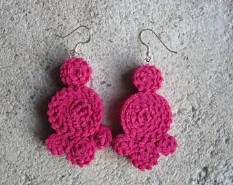 Federica drop earrings in soft pvc Fuchsia