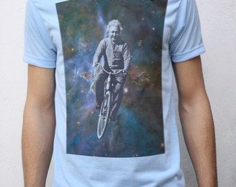 Albert Einstein Cycling in Space T shirt