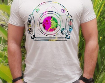 Cosmos t-shirt - Cosmos tee - Fashion men's apparel - Colorful printed tee - Gift Idea