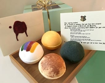 Harry Potter Bath Bomb Gift Set, Bath Gift Set, Harry Potter Gift, Harry Potter Bath Bomb, Bath Bomb, Bath Bomb Gift Set