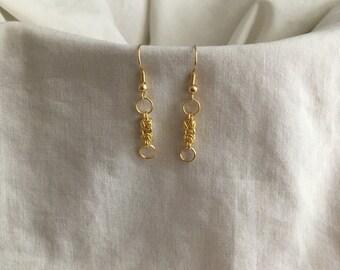 Gold Byzantine Earrings