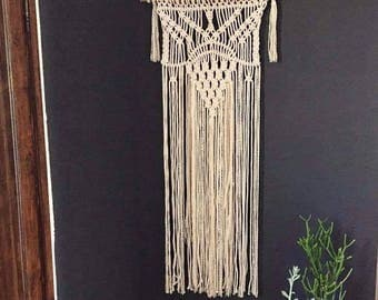 Large Cream Rope Macrame Wall Hanging - Made to Order