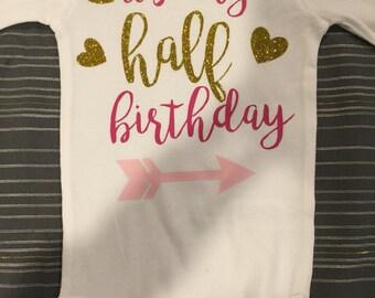 It's my half birthday! Celebrate 1/2 way to one!