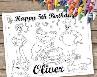 Curious George Birthday Party Coloring Pages, Curious George Birthday Party, Curious George Party favor, Curious George Activity