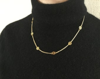 Steampunk gold chain
