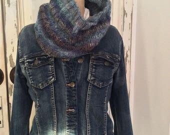 Snood blue wool (wool Phildar)