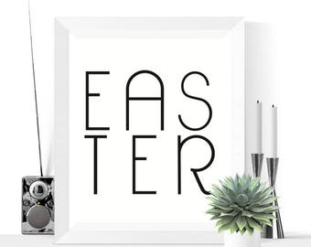 Easter Printable Decoration | Black and White | Minimalist Prints | Easter Decor | Easter Decorations | Easter Prints