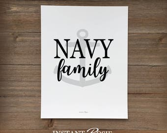 Navy Family - Instant download