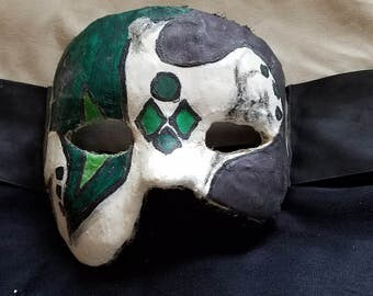 Green and Purple 3/4 Mask