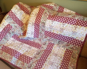 Pink and Paisley Quilt - 62 x 62