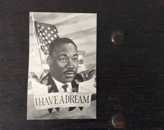 Vintage 1960s Martin Luther King Postcard / Used