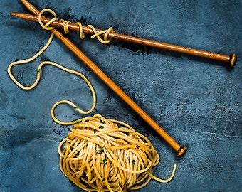 Knitting Spaghetti Card