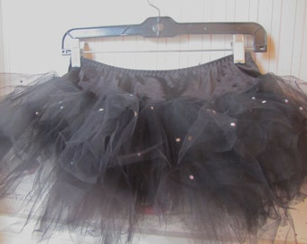 Rhinestoned black tutu