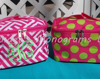 Monogrammed Makeup Bag, Monogrammed Cosmetic Bag, Personalized Cosmetic Bag, Personalized Makeup Bag, Monogrammed Accessory Bag