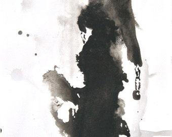 Noir - Fashion Illustration - Art - Painting