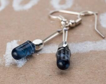 Earrings blue LED