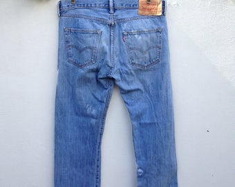 Levi's 501 blue denim jeans