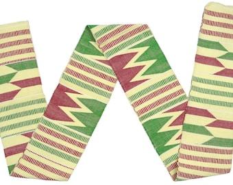 Kente stole Ghana African cloth handwoven scarf Ashanti fabric new Art textile