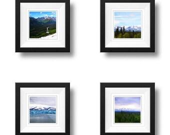 Alaska Set, Photography set of 4, Square Wall Art