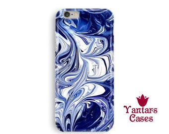 Luxury phone case Abstract iPhone 6 case Blue iphone 6s case Abstraction phone case Cool iphone cases iphone 7/6s/5 case marble Gift for men
