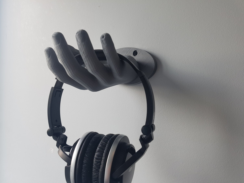 Headphone stand wall mount hand holder - Wall mount headphone holder ...