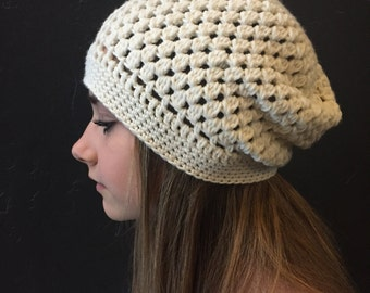 Bubbles crochet slouchy hat