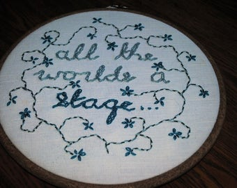 All The Worlds A Stage Wall Hanging