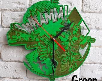 Harley Quinn and Joker art clock harley quinn costume Joker harley quinn cosplay Joker joker mask joker gun harley quinn gift wood wooden