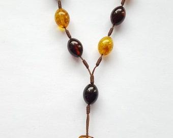 Amber Rosary Catholic Ambra Rosario Cross Bracelet Beads 11 mm