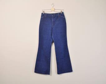70s Bell Bottoms, Denim Bell Bottoms, Vintage Wrangler Jeans, 1970s Wide Leg Jeans, 70s Flared Jeans, Womens Size 11 / 12