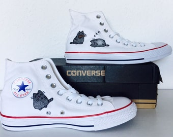 Painted converse chucks - sweet cats
