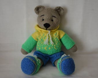 Soft toy knitted bear