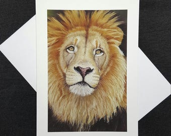 Single blank greeting card. Print of my original pastel painting titled The Guardian.