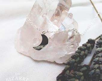 Boho Silver Moon Necklace / Magic / Goddess / Modern witch / Bizarre