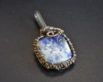 Wire Wrapped Sodalite Cabachon