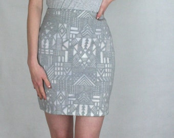 Aztec Skirt LIMITED EDITION grey and white