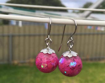 Sparkly hearts earrings