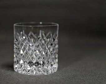 Tyrone Crystal Old Fashioned Glass in Sperrins Pattern