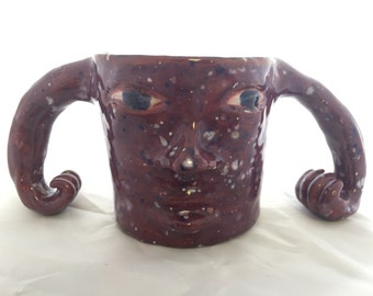 Purple and Copper Monster Mug