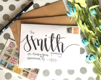Handwritten Addressed Envelope-Magnolia Design