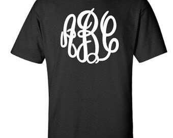 Personalized Monogram Unisex Tshirt with Script font